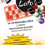 flyer loto pour une enfance